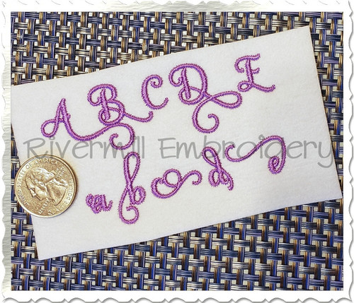 Small Samantha Script Alternate Letters (Set 3) Machine Embroidery Font Alphabet