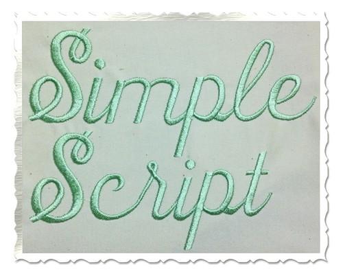 Simple Script Machine Embroidery Font Alphabet