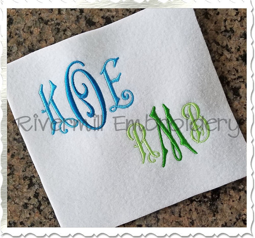 Carter Monogram Machine Embroidery Font Alphabet