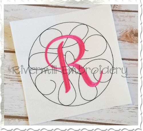 Swirl Monogram Machine Embroidery Alphabet