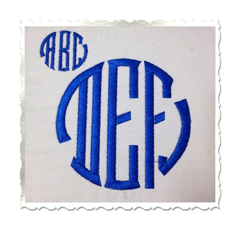 Seal 3 Letter Monogram Machine Embroidery Font