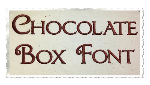 Chocolate Box Machine Embroidery Font Alphabet