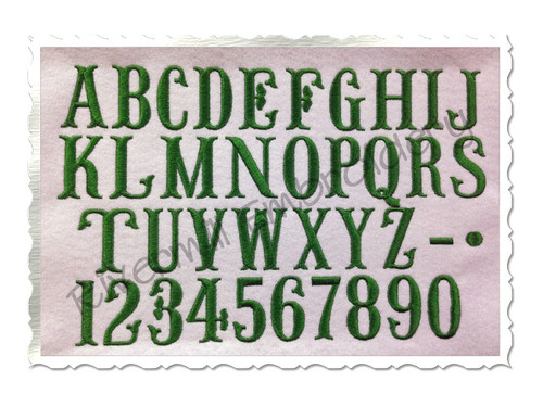 """1 1/2"""" Inch Size ONLY Fish Tail Monogram Machine Embroidery Font"""