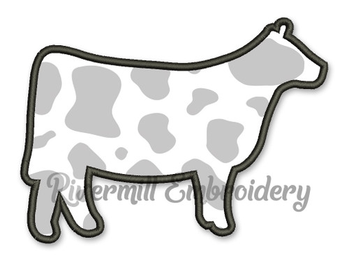 Applique Cow Machine Embroidery Design