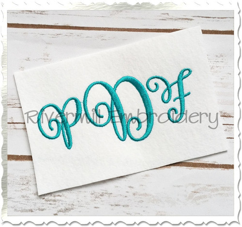 Carried Away Monogram Machine Embroidery Font