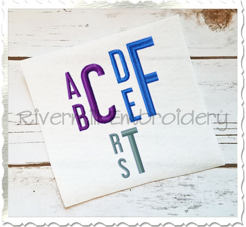 Stacked Monogram 2 Machine Embroidery Font