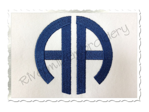 Round 2 Letter Monogram Machine Embroidery Font - 4 Inch Size Only