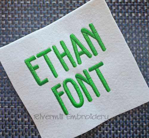 Ethan Font Machine Embroidery Font Alphabet