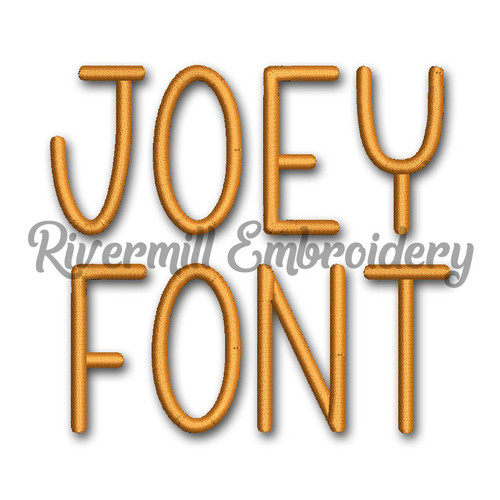 Joey Machine Embroidery Font Alphabet