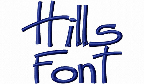 Hills Machine Embroidery Font Alphabet