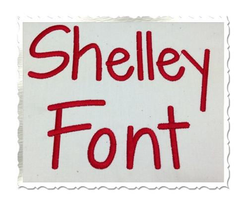 Shelley Machine Embroidery Font Alphabet