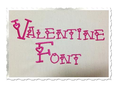 Valentine Hearts Machine Embroidery Font Alphabet