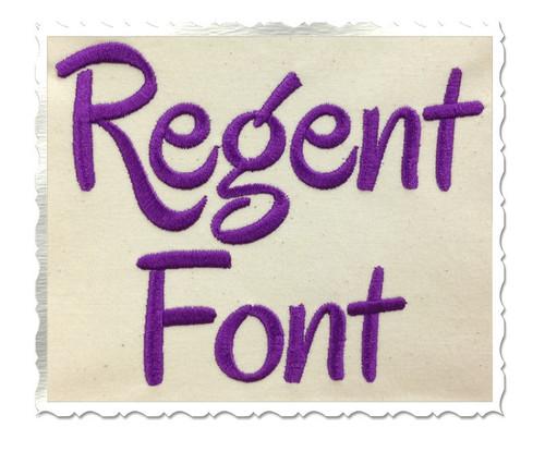 Regent Machine Embroidery Font Alphabet