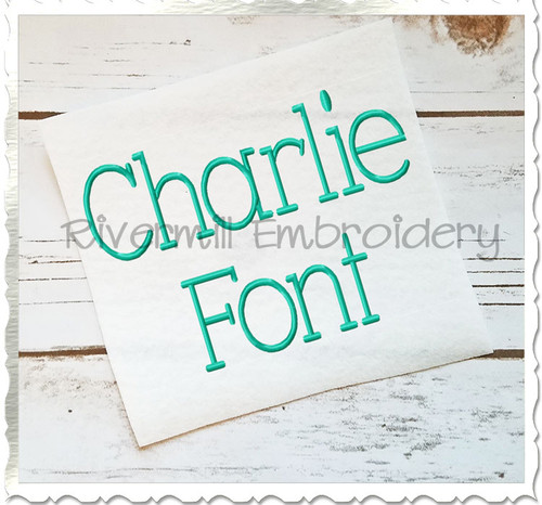 Charlie Machine Embroidery Font Alphabet