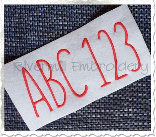 Large Farm Style Font Machine Embroidery Font Alphabet