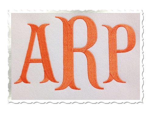 Large Fish Tail Machine Embroidery Font Alphabet