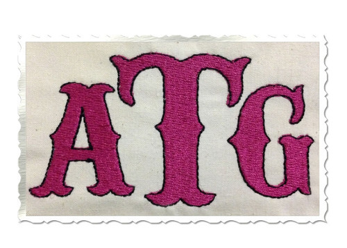 Carnival Machine Embroidery Font Alphabet