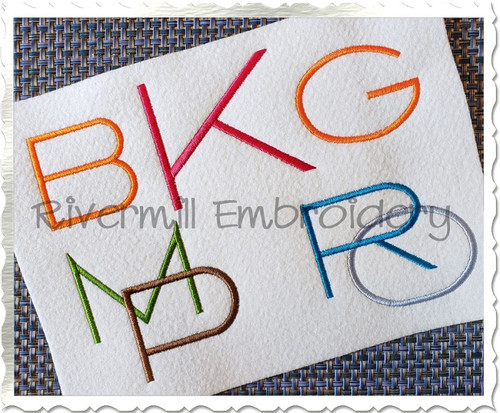 Deco Monogram Machine Embroidery Font