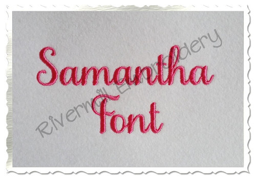 Samantha Script Basic Machine Embroidery Font Alphabet
