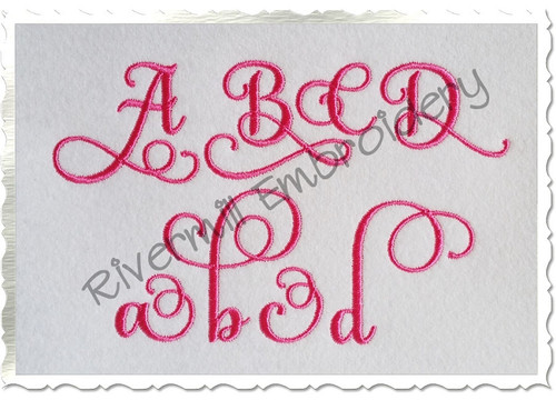 Samantha Script Alternate Letters (Set 2) Machine Embroidery Font Alphabet