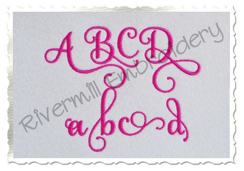 Samantha Script Alternate Letters (Set 3) Machine Embroidery Font Alphabet