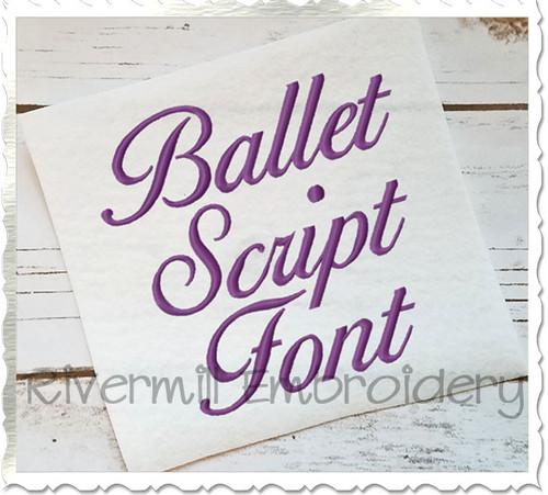 Ballet Script Machine Embroidery Font Alphabet