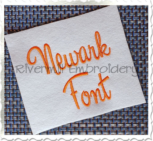 Newark Machine Embroidery Font Alphabet