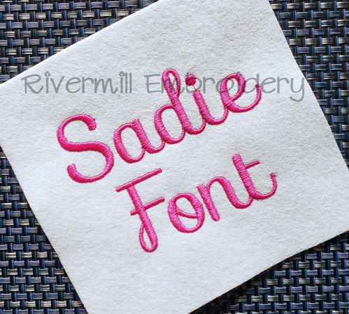Sadie Machine Embroidery Font Alphabet