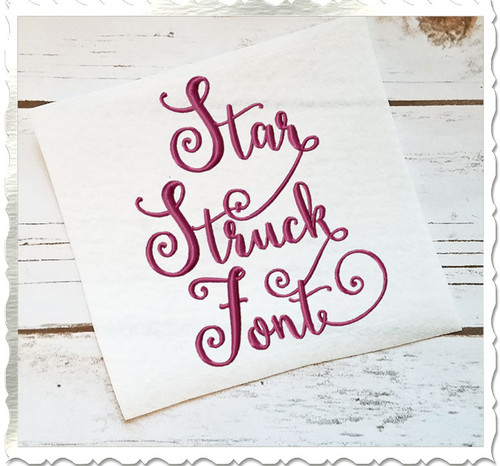 Star Struck Machine Embroidery Font Alphabet