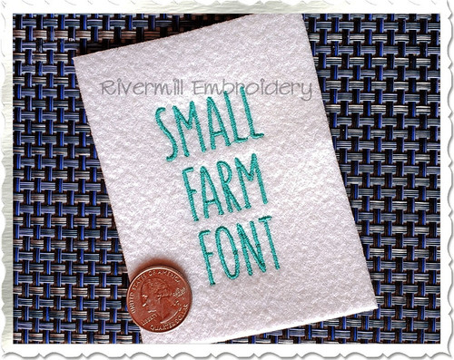 Small Farm Style Font Machine Embroidery Font Alphabet