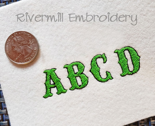 Small Carnival Machine Embroidery Font Alphabet