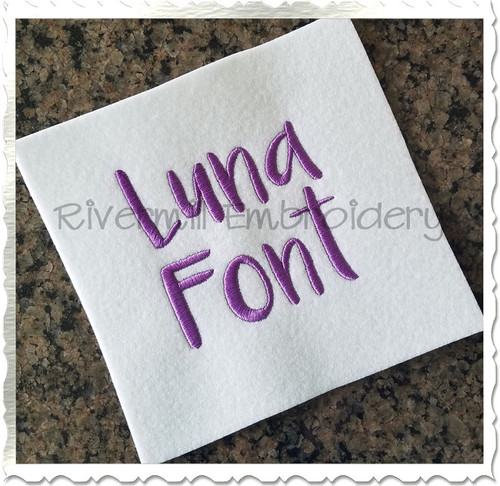 Luna Machine Embroidery Font Alphabet