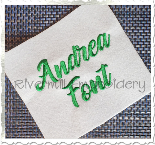 Andrea Machine Embroidery Font Alphabet