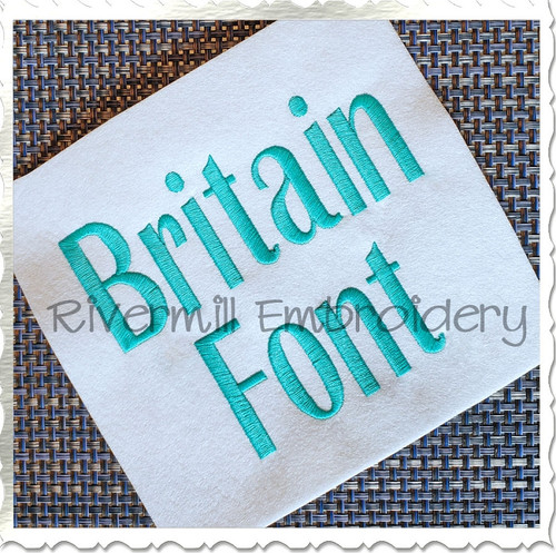 Britain Machine Embroidery Font Alphabet
