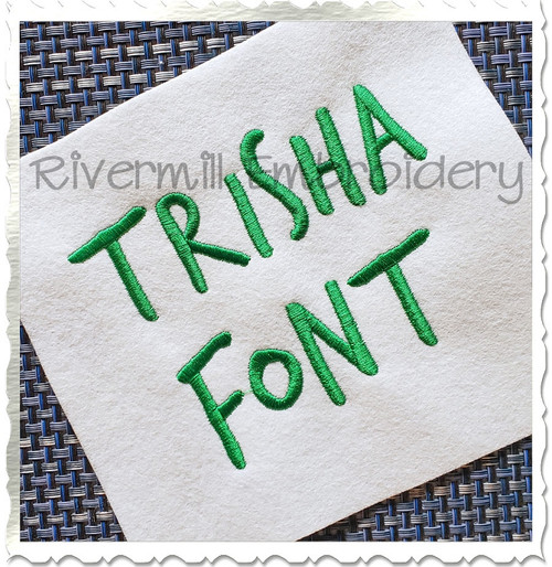 Trisha Machine Embroidery Alphabet