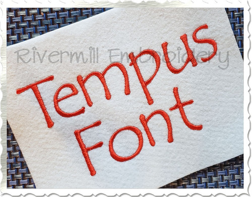 Tempus Machine Embroidery Font Alphabet