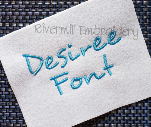 Desiree Machine Embroidery Font Alphabet