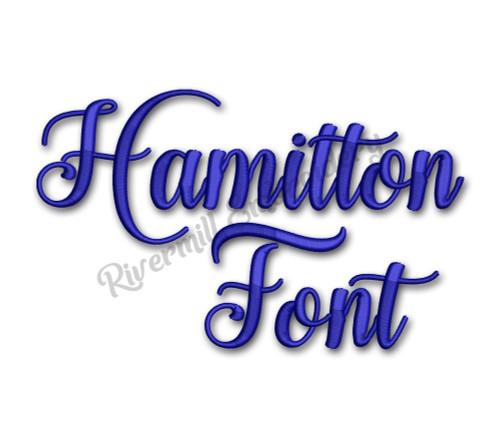 Hamilton Script Font Machine Embroidery Font Alphabet