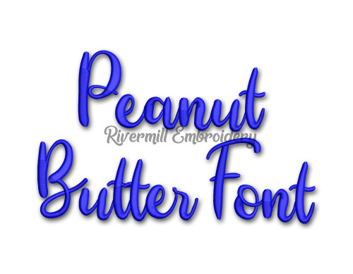 Peanut Butter Font Machine Embroidery Font Alphabet