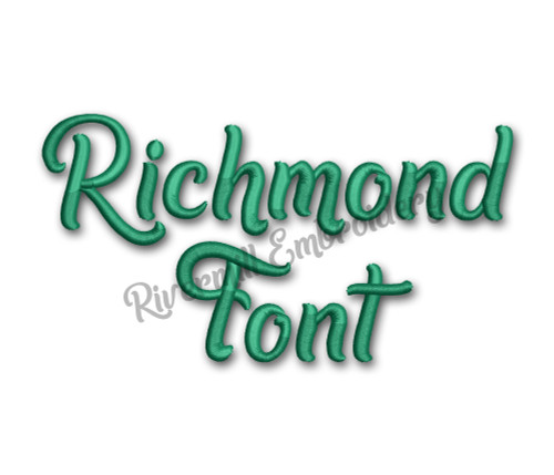 Richmond Font Machine Embroidery Alphabet