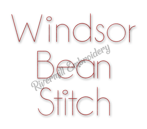 Windsor Block Bean Stitch Machine Embroidery Alphabet
