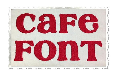 Cafe Machine Embroidery Font Alphabet