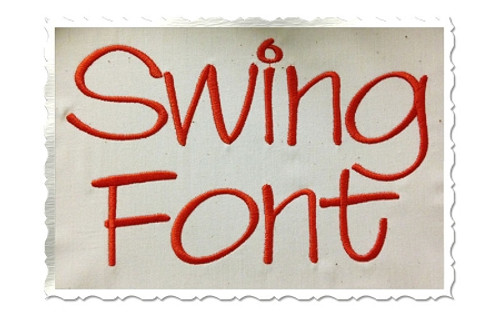 Swing Machine Embroidery Font Alphabet