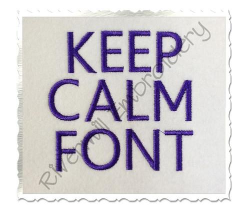 Keep Calm Machine Embroidery Alphabet