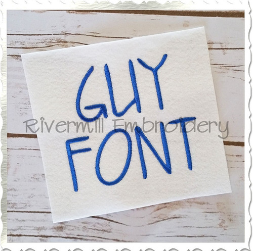 Guy Machine Embroidery Font Alphabet