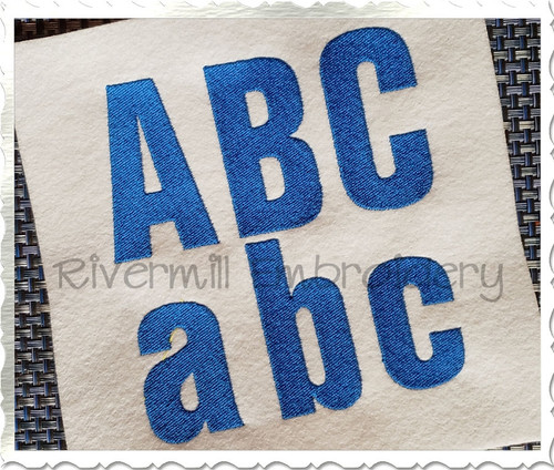 Block Machine Embroidery Alphabet