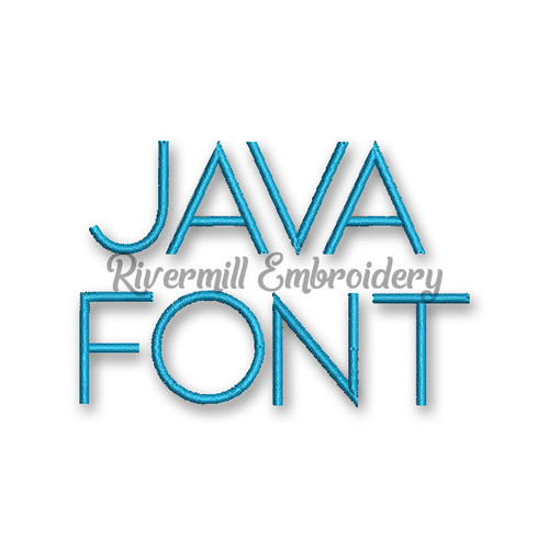 Small Java Machine Embroidery Font Alphabet