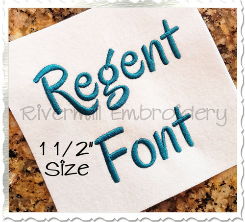 "1 1/2"" Inch Size ONLY Regent Machine Embroidery Font"