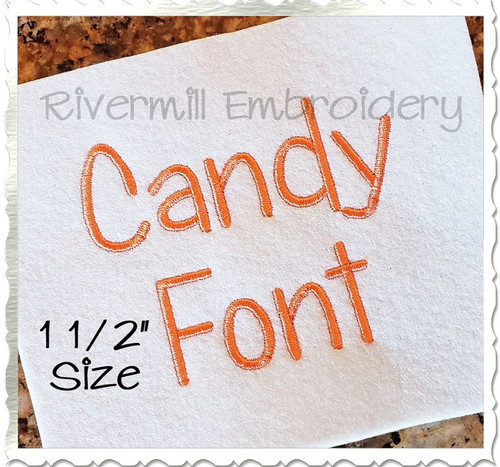"1 1/2"" Inch Size ONLY Candy Machine Embroidery Font"