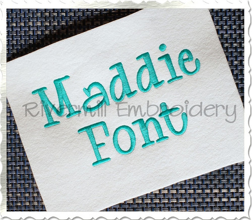"1 1/2"" Inch Size ONLY Maddie Machine Embroidery Font"